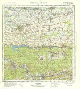 Topographical Map Of Germany.Russian Soviet Military Topographic Maps Soest Germany 1 100