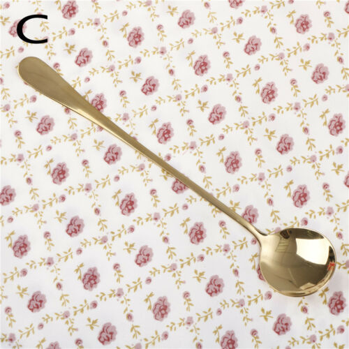 1pc stainless steel spoon with long handle ice spoon coffee spoon tea spoon FG