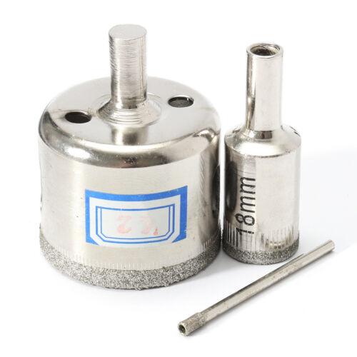 15PCS 3-42mm Diamond Hole Saw Set Drill Bit Cutter Tile Glass Marble Ceramic Kit