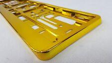 2x Kennzeichenhalter GELB / GOLD Nummernschildhalter EU Standard Pkw Auto Kfz