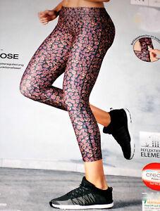 Damen-LAUFHOSE-lang-Fitnesshose-Funktionshose-Gr-S-M-grau-brombeer-NEU