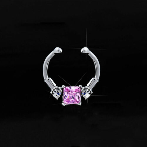 Clip sur le Nez Hoop Fake Septum Nouveau Bijoux Clicker non-Piercing nez anneau