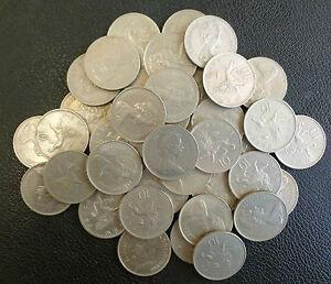 Bulk-Lot-Of-40-Clean-Large-Size-UK-Decimal-10p-Coins-For-Slot-Machines-etc