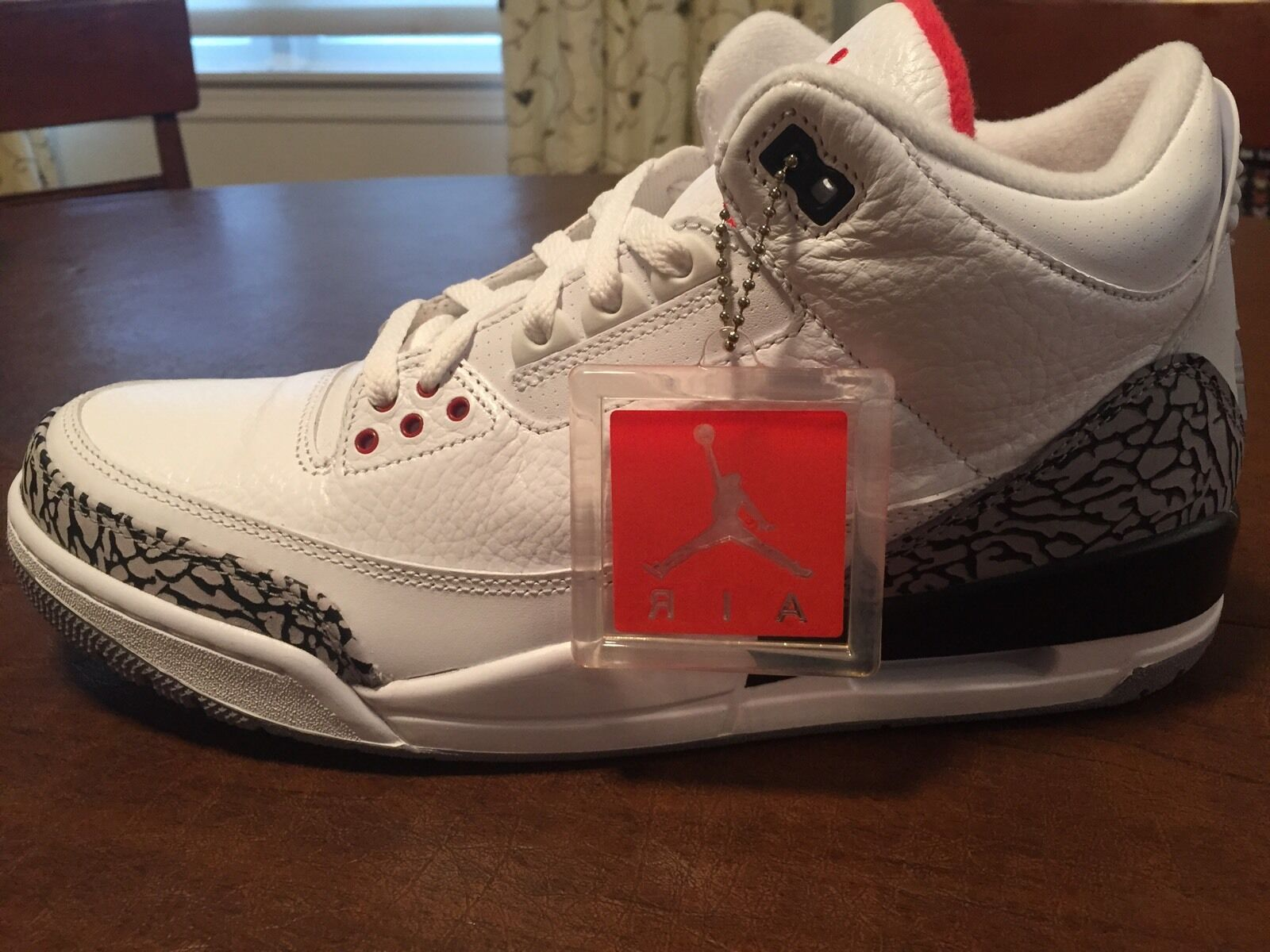 2011 Nike Air Jordan Retro III 3 White Cement 136064-105- DEADSTOCK Size 11