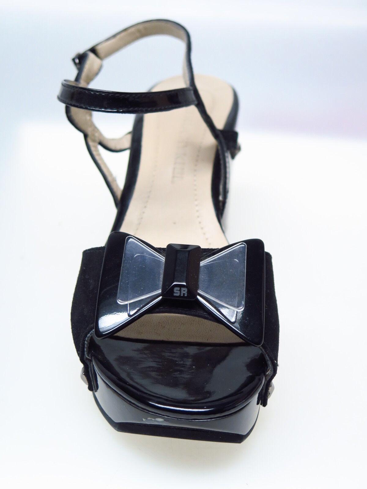 Sonia Rykiel Designer Damenschuhe Noir Talon Barnabe Sandale Noeud Bijoux Talon Noir 38 NEU 01c46f