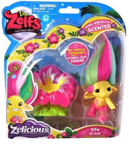 The Zelfs-Zelicious-ELFA-ELF Zelf-Hibiscus rose parfumé-Neuf