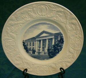 Duke-University-Commemorative-Plate-East-Duke-Building-1911-Wedgwood