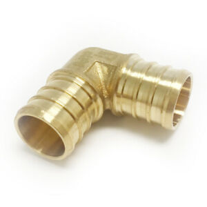 5-PCS-1-034-PEX-ELBOW-BRASS-CRIMP-FITTINGS-LEAD-FREE