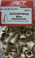 Tan Wing Wire Connectors Ul- 100 Pack