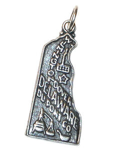 STERLING-SILVER-CHARM-State-of-DELWARE-DE