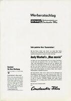 Andy Warhol's Blue Movie ORIGINAL Werberatschlag Paul Morrissey / Viva / Waldon
