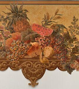 Raymond Waites Georgian Garden Scalloped Vintage Fruits Kitchen Wallpaper Border Ebay