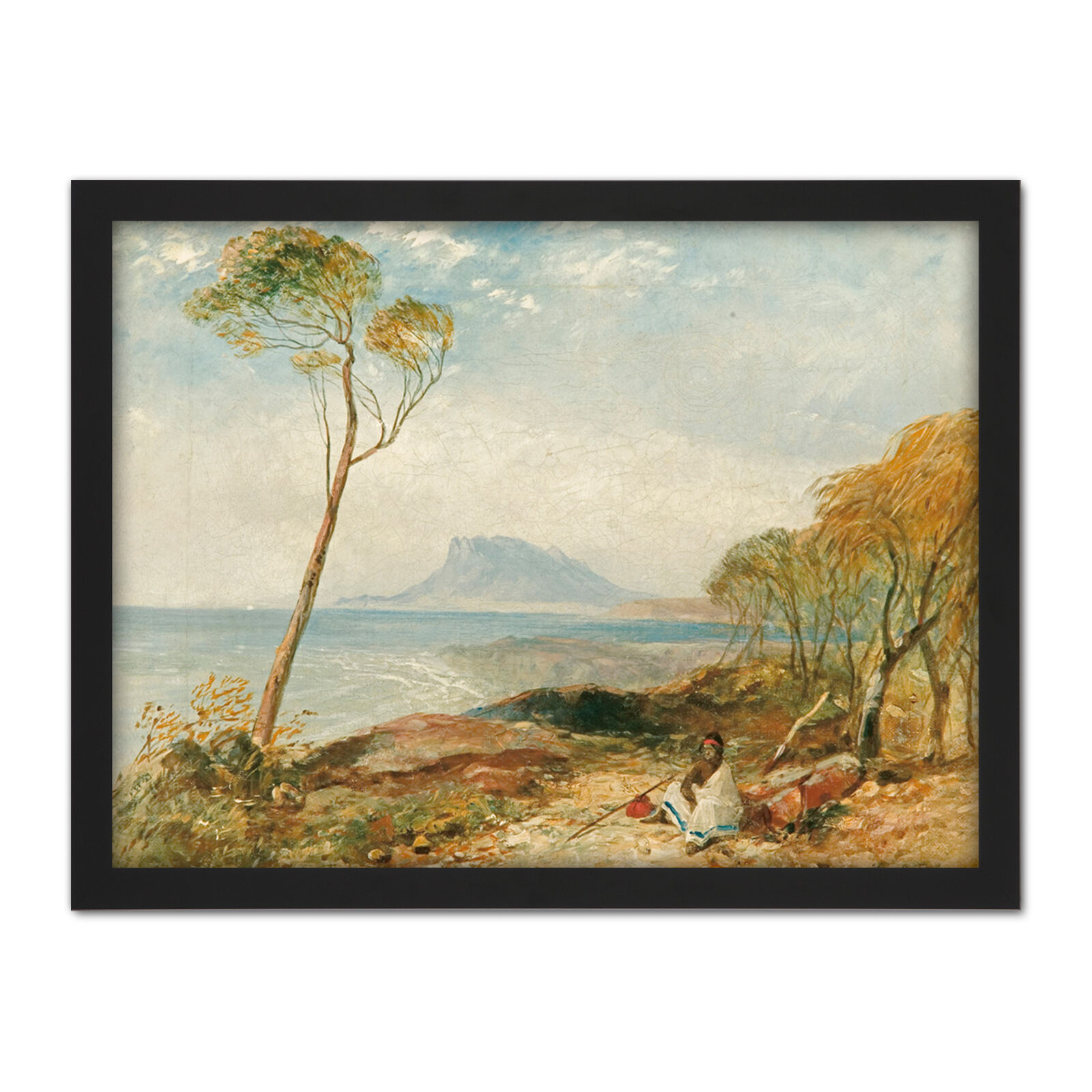 John Skinner Prout Maria Island From Little Swanport Large Framed Art Print