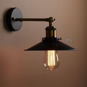 PATHSON METAL BLACK MODERN VINTAGE INDUSTRIAL RUSTIC LOFT SCONCE WALL LIGHT LAMP