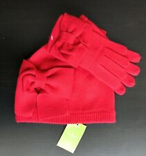 36f7f48b5ccaf item 3 New Kate Spade New York Dorothy Bow Beanie Hat And Gloves Set Red -New  Kate Spade New York Dorothy Bow Beanie Hat And Gloves Set Red