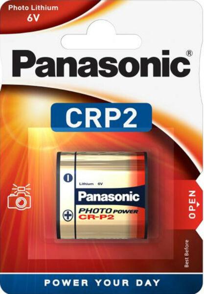 1x Panasonic Crp2 Photo Lithium Batterie 6 V Fotobatterie 1er Blister Cr-p2l/1bp Cool En éTé Et Chaud En Hiver
