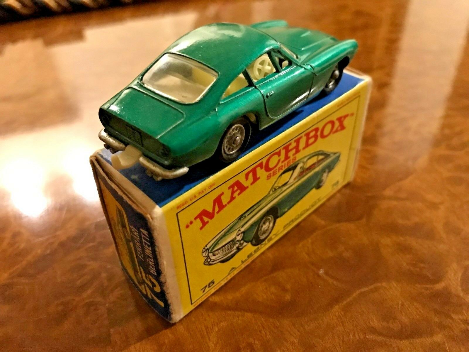 Vintage Matchbox MIB Ferrari 250 GT Lusso Berlinetta Wire Wheels No. 75