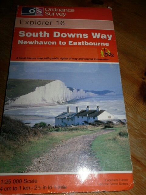 South Downs Way - Newhaven to Eastbourne by Ordnance Survey (Sheet map,...