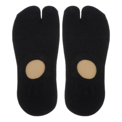 Tabi Socks Socks 2 Fingers Cotton Plain Short Length Socks Men/'s Women/'s Sports