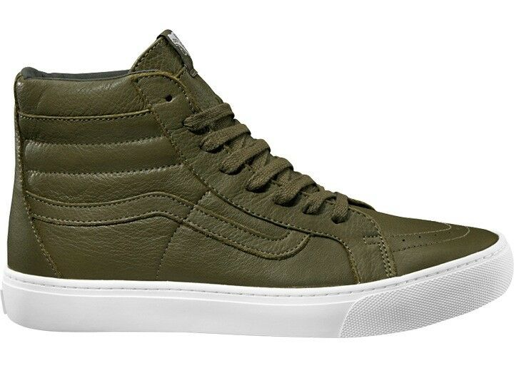 Vans tobillo zapato de cuero zapato skater zapato verde sk8-hi Cup leath