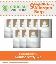 9 Kenmore Type B 85003 Bags Part # 24196 634875 115.2496210 02053278000