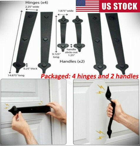 US Garage Door Decorative Magnetic Accents Handle Hinge Carriage House Hardware