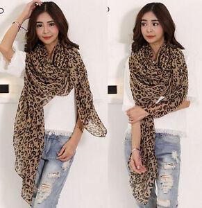 Fashion-Womens-Long-Style-Wrap-Lady-Shawl-Leopard-Chiffon-Scarf-Scarves-Stole