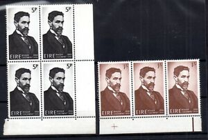 Ireland-1966-Roger-Casement-MNH-set-in-blocks-WS17154