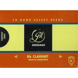 Box of 10 Gonzalez Bb Clarinet /'F.O.F./' Reeds Strength 4.75
