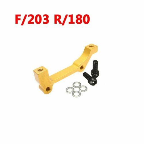 Bike Disc Brake Rotors Front Rear 180mm 203mm IS//PM Caliper Adapter Aluminium