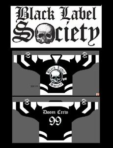 BLACK LABEL SOCIETY Hockey Jersey sz 48 L / Large bls zakk wylde shirt