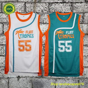... Flint Tropics Basketball Jersey Stitched Green  super popular c8c59  d19e3 Image is loading Semi-Pro-Movie-Vakidis-55 ... 8022c4ded