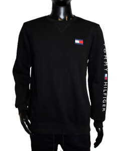 Neu Tommy Hilfiger Herren Sweater Pullover schwarz black Logo