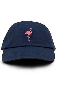 Image is loading Flamingo-Custom-Unstructured-Dad-Hat-Baseball-Cap-Brand- 7591380c7cf