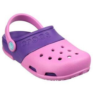 Crocs Electro II Clogs Girls Summer Beach Croslite Kids Childrens Sandals  Shoes | eBay