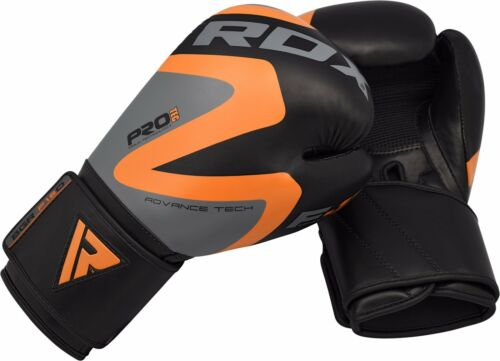 RDX Leather Boxing Gloves Muay Thai Punch Bag Sparring MMA Training Kickboxing O