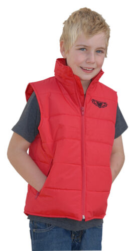 Wulfsport cub leisure wear gilet jacket red kids small motocross motorbike
