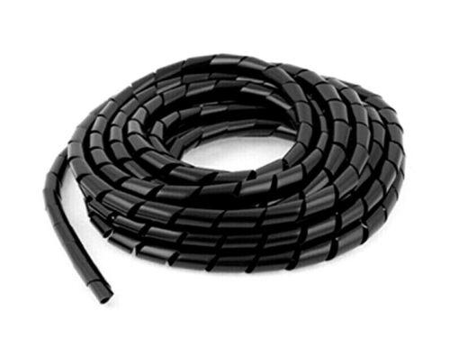 TV Audio Flexibel 2 /> 10 Meter Länge Schwarz Spiral Folie Kabel Tidy
