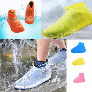 UK Silicone Waterproof Shoe Cover Outdoor Rainproof Hiking Skid-proof Shoe Cover