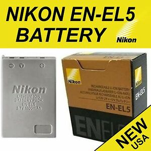 New Genuine Original Battery En El5 For Nikon Coolpix P80