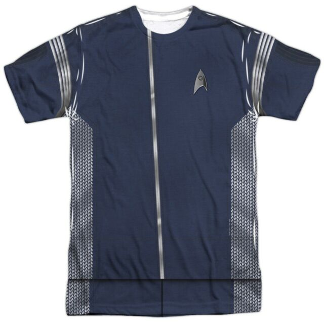 Authentic Star Trek Discovery TV show Science Uniform Costume FRONT T-shirt  top 1c50cae7e