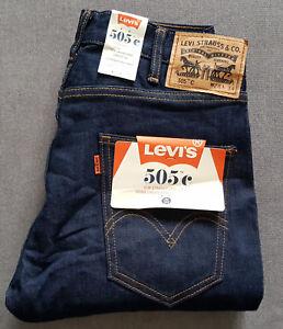 Herren-Jeans-LEVIS-LEVI-S-505C-Slim-Straight-Orange-Tab-29998-0006-W28-L34