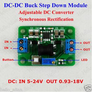 Dc Dc Buck Converter 5v 24v To 3 3v 5v 9v 12v Adjustable