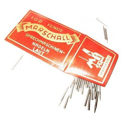 100 Grammophon Nadeln ''Laut'' Stahlnadeln - NEU -- New steel needles
