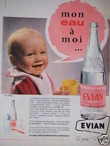 PUBLICITE-1961-EVIAN-EAU-MINERALE-NATUREL-MON-EAU-A-MOI-BEBE