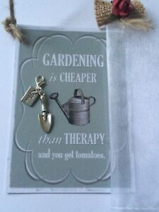 Gardening Gifts For Him >> Details About Gardening Gifts Set Fun Card Hanger Charm Key Ring Hand Bag Charms Him Her Gift