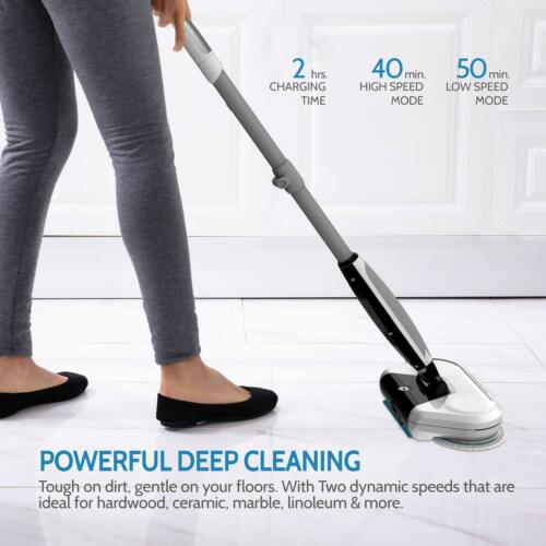 Rollibot M6 Electric Mop Cleaning Waxing Polishing Cordless Spin Floor Cleaner
