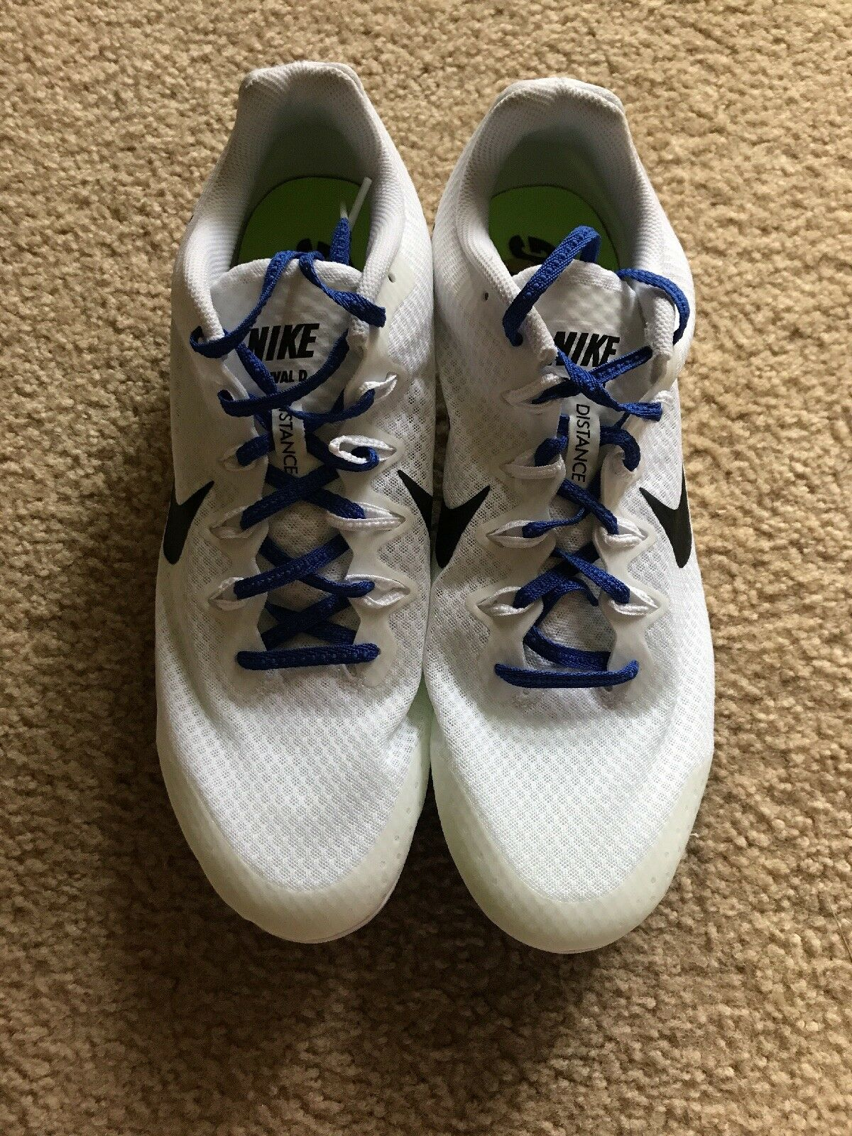 Brand discount New Nike Zoom Rival D 9 Mens Track & Field Spikes Distance Running Shoes White.
