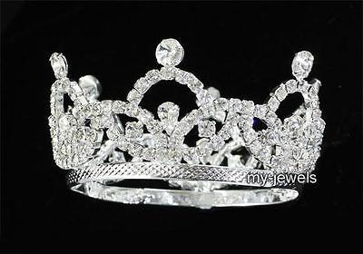 Newborn Baby Mini Tiara Crown Photo Prop Crystal Full Circle Round T1825