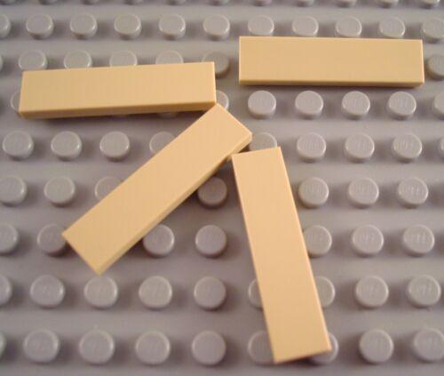New LEGO Lot of 4 Tan 1x4 Tiles